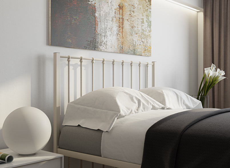 Norfolk Wrought Iron Bed (Head) in Ivory
