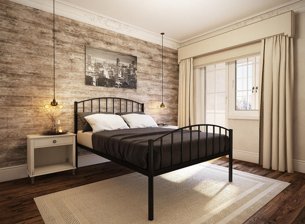 Memphis Wrought Iron Bed (High) in Black