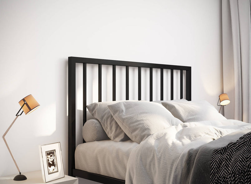 Madison Wrought Iron Bed (Head) in Black