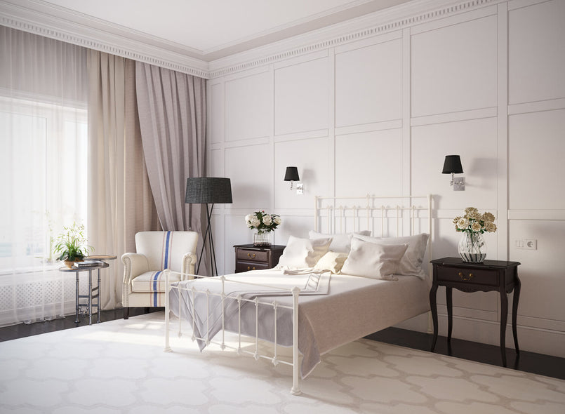 Lyla Wrought Iron Bed in Ivory