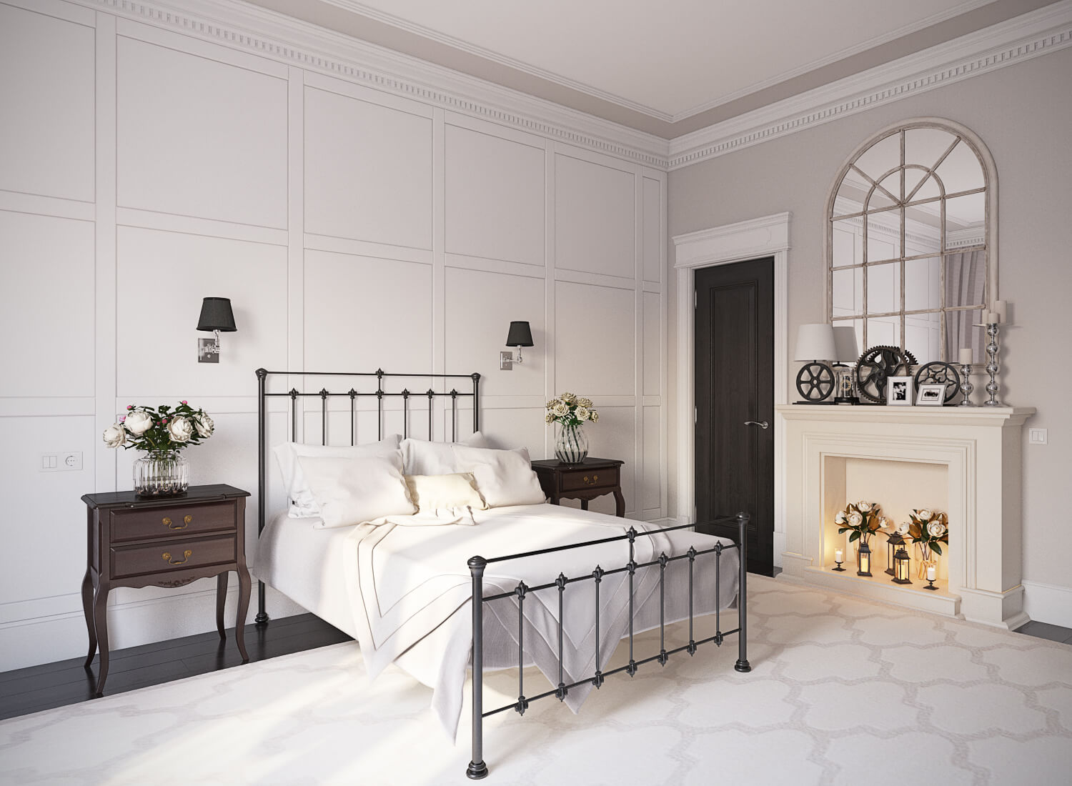 Leona Wrought Iron Bed