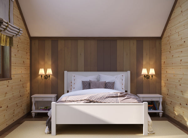 Shouldham Wooden Bed (High) in White