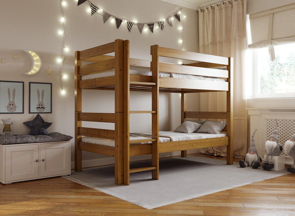 Bespoke Wooden Bunk Bed in Oak (Left)