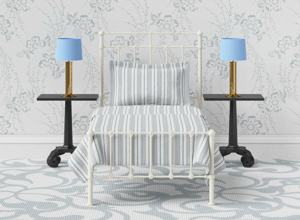 Amelia Wrought Iron Bed in Ivory
