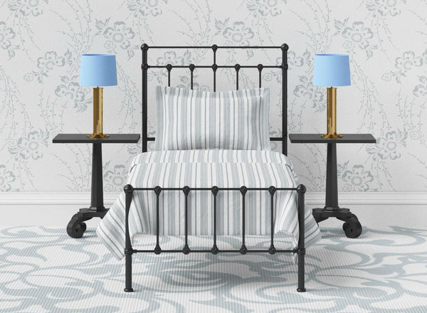 Amelia Wrought Iron Bed in Black