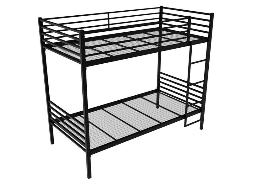 Bespoke Metal Bunk Bed in Black (Right)