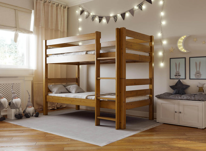Bespoke Wooden Bunk Bed in Oak (Right)