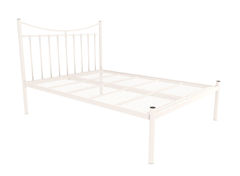 Bronx Wrought Iron Bed (Low) in Ivory