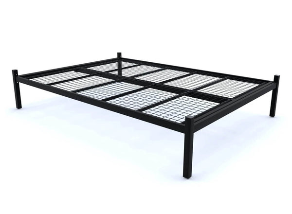 Wroxham Platform Bed in Black (Mesh Base)