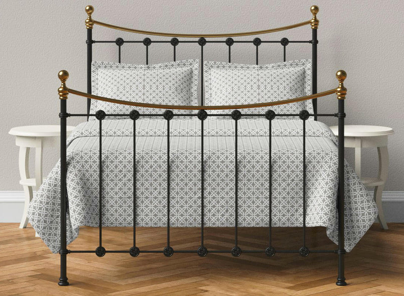 Evelyn Wrought Iron Bed in Black