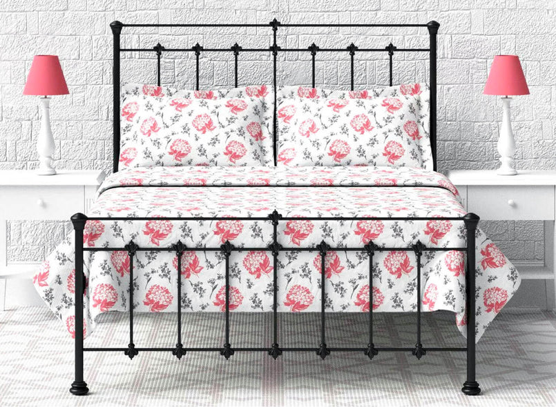 Lyla Wrought Iron Bed in Black