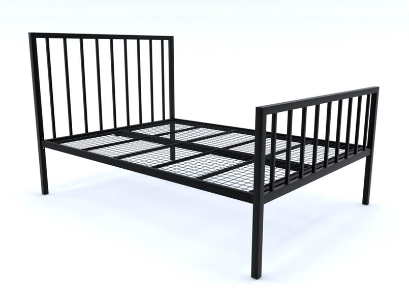 Madison Wrought Iron Bed (High) in Black