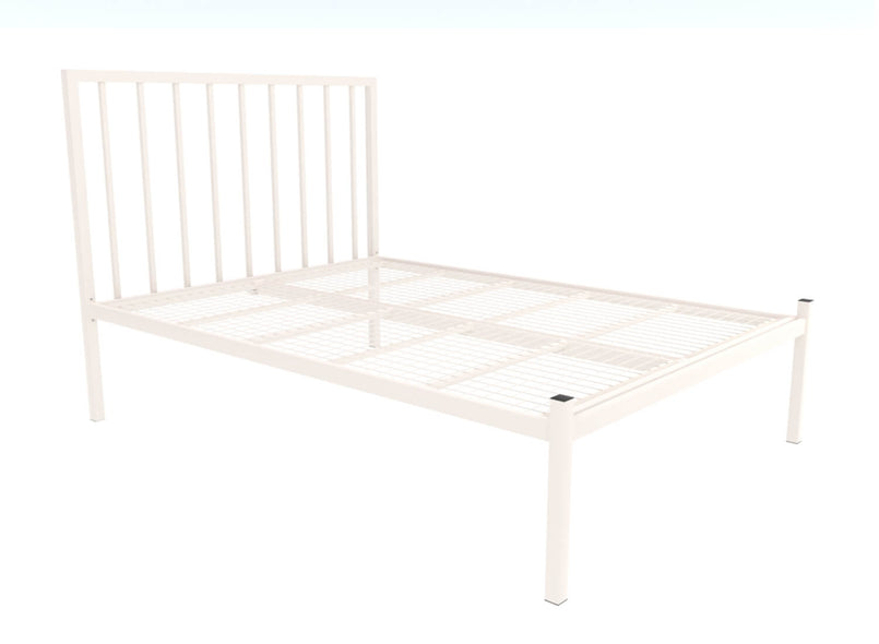 Madison Wrought Iron Bed (Low) in Ivory
