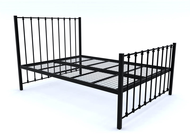 Norfolk Wrought Iron Bed (High) in Black