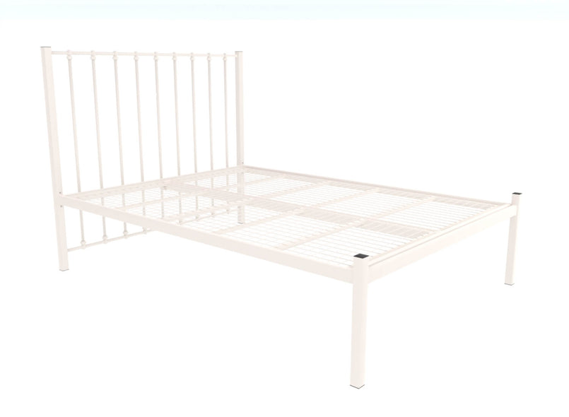 Norfolk Wrought Iron Bed (Low) in Ivory