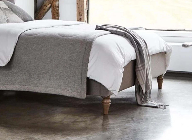 Sheringham Fabric Bed w/ HT Wooden Feet