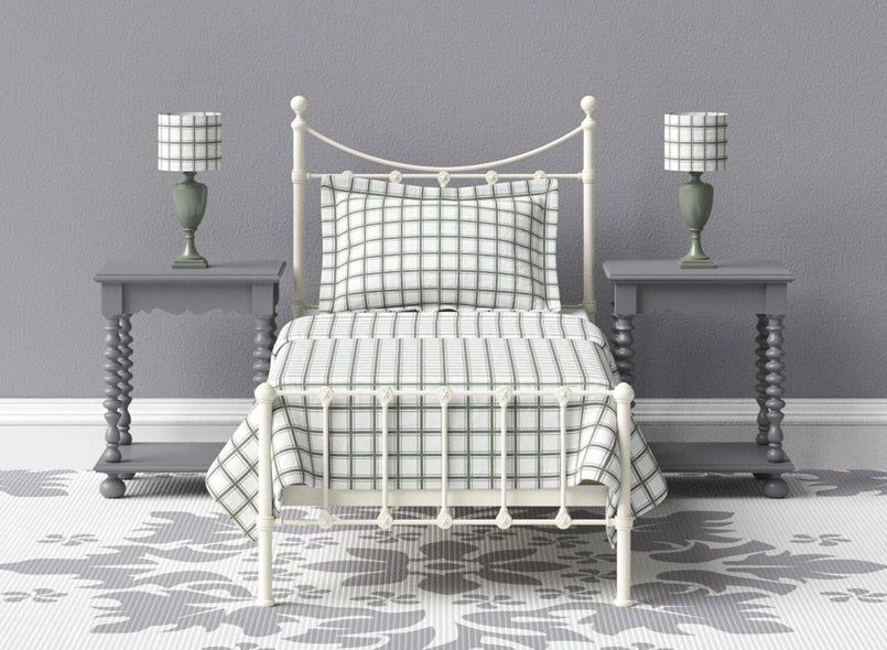 Blake Wrought Iron Bed in Ivory