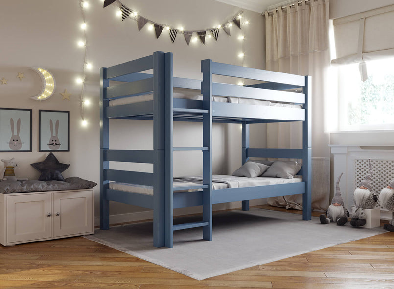 Children's Wooden Bunk Bed in UM Blue