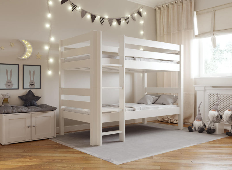 Children's Wooden Bunk Bed in White
