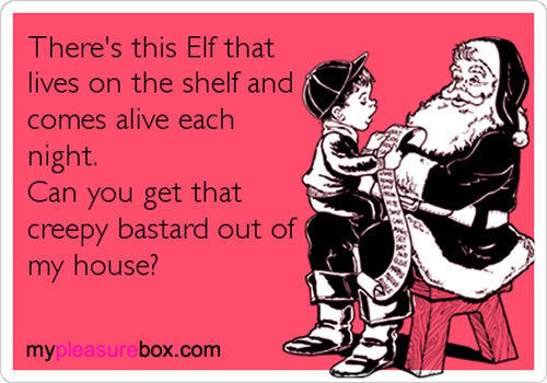 Creepy Elf on the Shelf