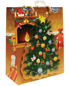 Christmas Tree W/adult Ornaments Gift Bag
