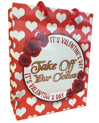 Its Valentines Day, Take Off Your Clothes Gift Bag