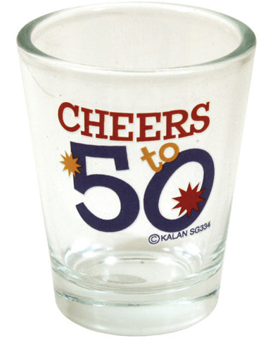 Cheers To 50 Clear Shot Glass