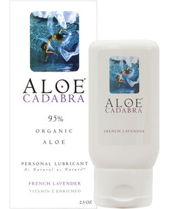 Aloe Cadabra Organic Lubricant - French Lavender 2.5 Oz Bottle