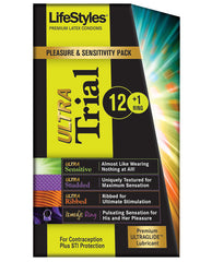 Lifestyles Condoms Ultra Trial Pleasure Pack - Box Of 13