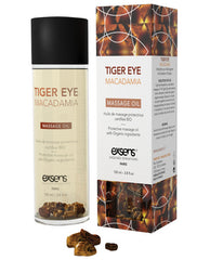 Exsens Of Paris Organic Massage Oil W-stones - Tiger Eye Macadamia