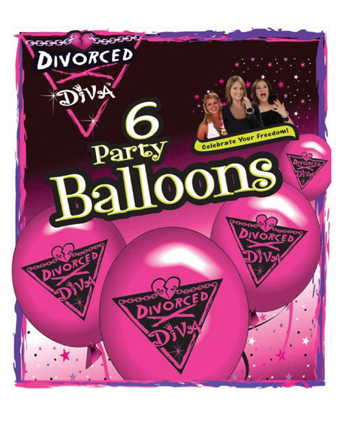 Divorced Diva Balloons - Pack Of 6