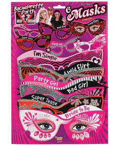 Bachelorette Outta Control Party Masks - Pack Of 6