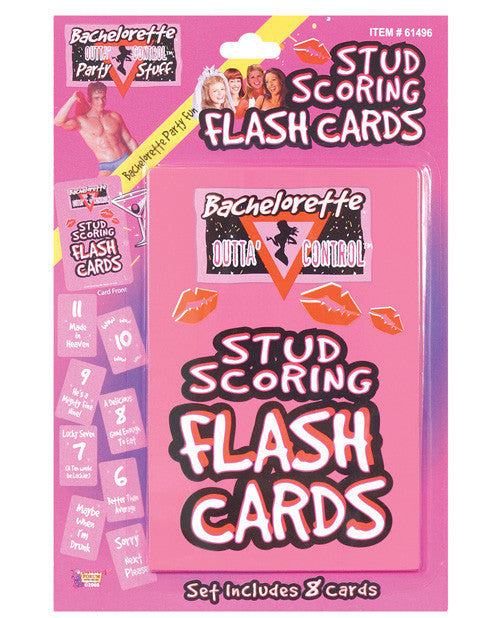 Bachelorette Party Outta Control Stud Scoring Flash Cards