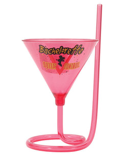 Bachelorette Party Outta Control Martini Glass W-straw