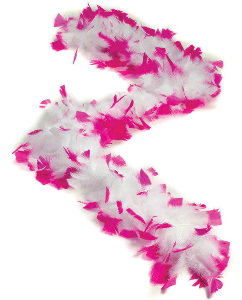 Bachelorette Feather Boa - White W-pink Tips