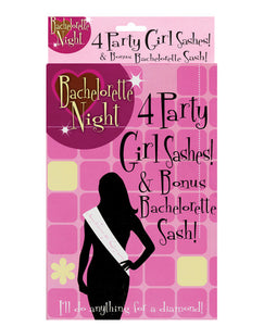 Bachelorette Night Party Girl Sashes W/bachelorette Sash - Box Of 5