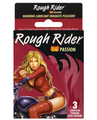 Rough Rider Studded Hot Passion Condom - Box Of 3