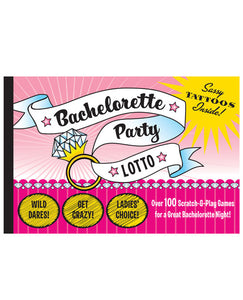 Bachelorette Party Lotto - Book Of 100 Scratch & Play Games