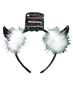 Bachelorette Pvc Devil Horns - Black