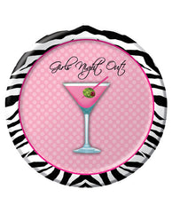 "Girls Night Out Martini 7"" Plate - Pack Of 8"