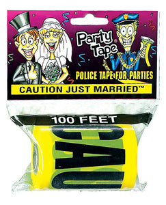 Caution Just Married Party Tape