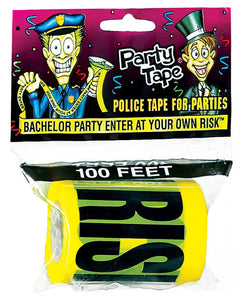 Bachelor Party Enter At Your Own Risk Party Tape