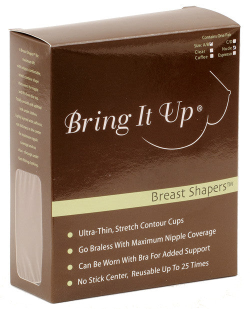 Bring It Up Breast Shapers - Nude A/b Cup 25 Or More Uses