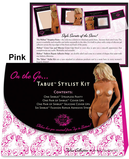Shibue On The Go, Strapless Panty, Cover Ups, Silicone Cover Ups, Repair Adhesives Pink Xs/s