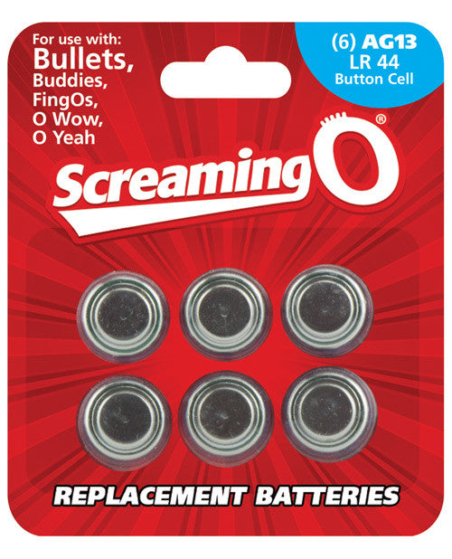 Screaming O Batteries - Sheet Of 6 (bullet, Owow, Fingo, Bullet Buddies, O Gee)