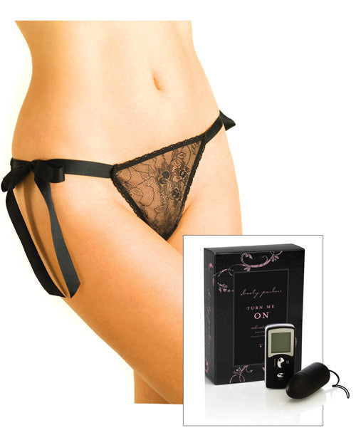 Booty Parlor Turn Me On Vibrating Panties Black Medium/large