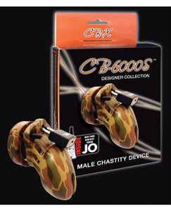 "Cb-6000s 2 1/2"" Cock Cage And Lock Set - Camo"