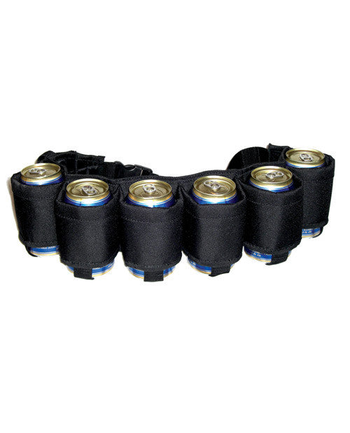 Drink Easy Six-pack Beer Belt - Black