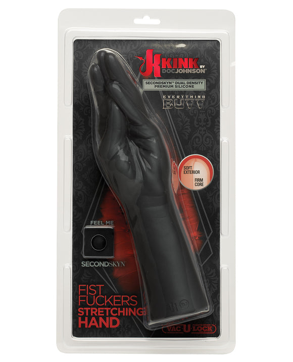 Kink Fist Fuckers Stretching Hand Secondskin Dual Density Silicone- Black