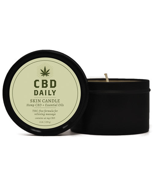 Earthly Body Cbd Daily Skin Candle - 5.3 Oz